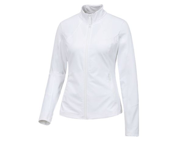Shirts & Co.: e.s. Funktions Sweatjacke solid, Damen + weiß