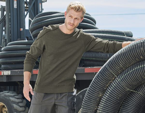 Sweatshirt cotton slub e.s.roughtough rinde | engelbert strauss