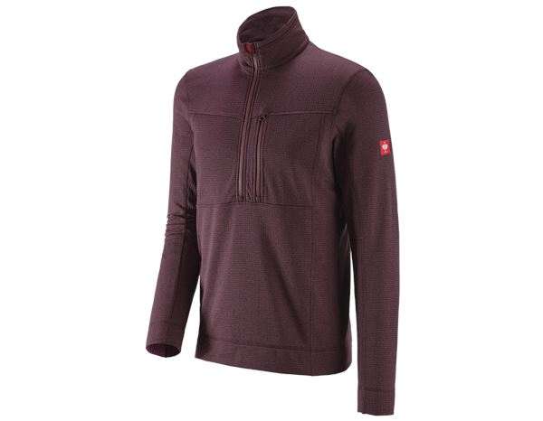 Pullover: Troyer climacell e.s.dynashield + specialbordeaux melange