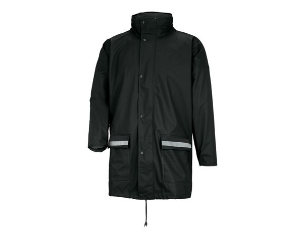 Jacken: Flexi-Stretch-Regenjacke + schwarz
