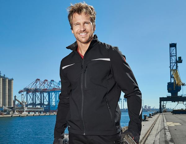 Jacken: Softshelljacke e.s.motion 2020 + schwarz