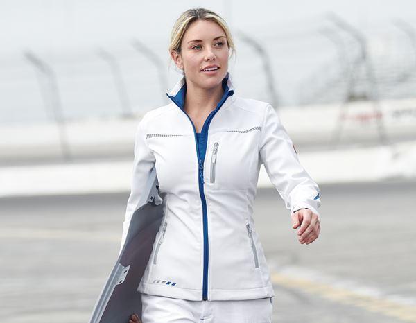 Softshelljacke e.s.motion 2020, Damen weißenzianblau