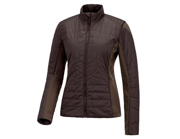Jacken: e.s. Funktions Steppjacke thermo stretch, Damen + kastanie