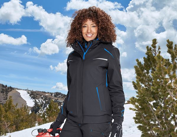 Jacken: Winter Softshelljacke e.s.motion 2020, Damen + graphit/enzianblau