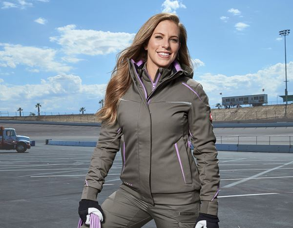 Winter Softshelljacke e.s.motion 2020, Damen steinlavendel