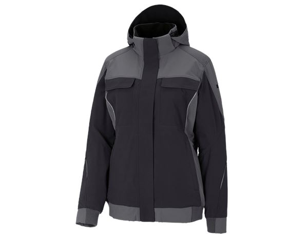 Jacken / Westen: Winter Funktions Jacke e.s.dynashield, Damen + zement/graphit