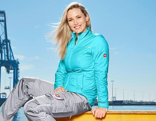 Jacken / Westen: Windbreaker e.s.motion 2020, Damen + capri/platin