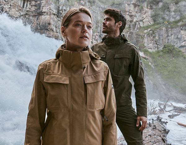 Damen: Stunt'n'Media Utility Waterproof Jacket, Ladies' + camel
