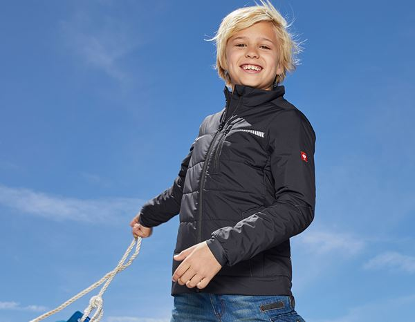 Jacken: Windbreaker e.s.motion 2020, Kinder + graphit/enzianblau