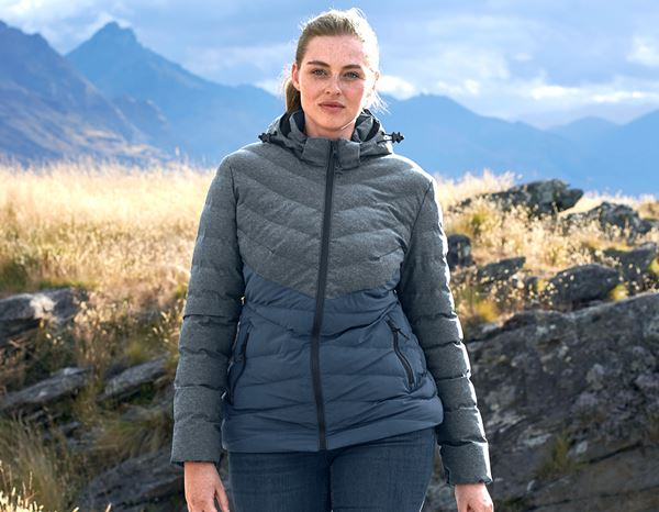 Jacken: Winterjacke e.s.motion ten, Damen + schieferblau