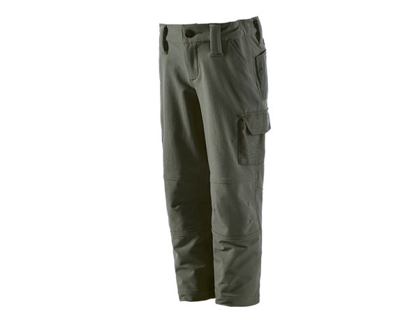 Hosen / Shorts: Funktions Cargohose e.s.dynashield solid,Kinder + thymian