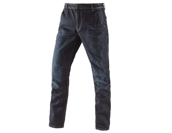 Hosen: e.s. 5-Pocket-Jeans POWERdenim + darkwashed