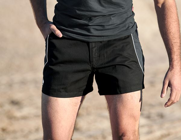 Hosen: X-Short e.s.active + schwarz/anthrazit