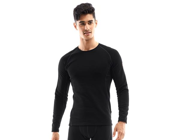 Unterwäsche | Thermokleidung: e.s. Funktions-Longsleeve thermo stretch-x-warm + schwarz