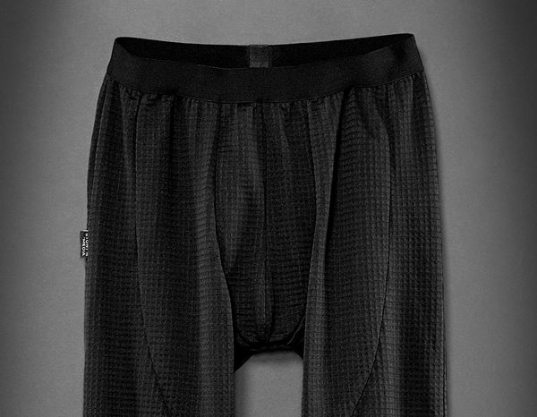 Herren: Stunt'n'Media Waffle Fleece Underwear Pants + black