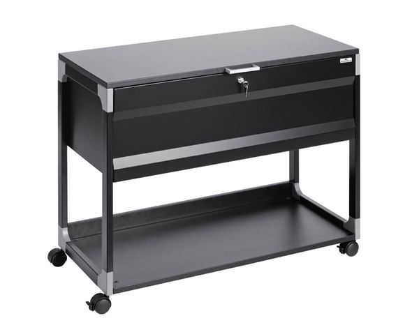 Regale: Durable System File Trolley Multi Top + schwarz