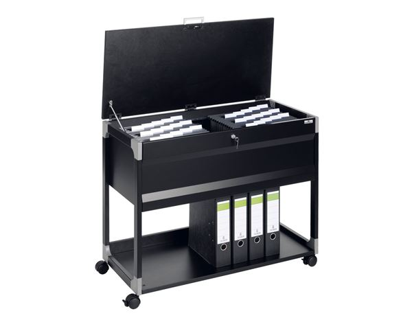 Schränke: Durable System File Trolley Multi Top + schwarz 1