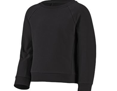 e.s. Sweatshirt cotton stretch, Damen schwarz | engelbert